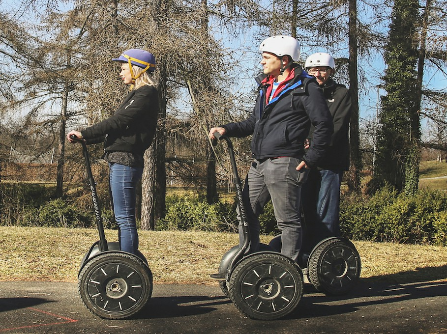 Park Ladronka in Prague during Segway Tour